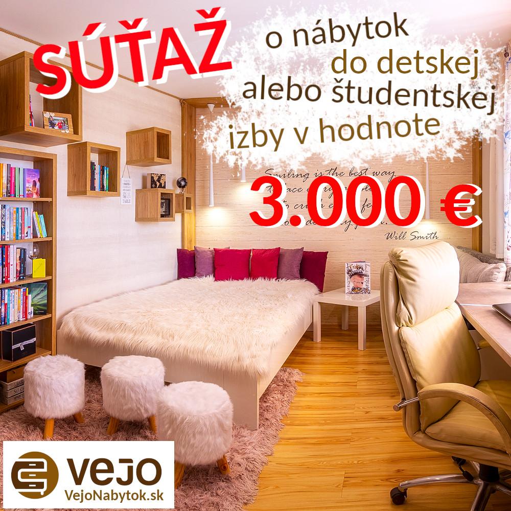 Súťaž o nábytok na mieru značky VEJO v hodnote až 3.000 €